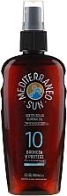 Profumi e cosmetici Olio solare - Mediterraneo Sun Coconut Suntan Oil SPF10