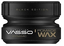 Profumi e cosmetici Pomata per lo styling dei capelli - Vasso Professional Hair Styling Pomade Wax Black Edition Dynamic