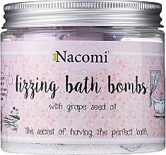 Set di bombe da bagno - Nacomi Fizzing Bath Bomb With Grape Seed Oil (bomb/4pezzi) — foto N1