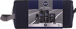 Profumi e cosmetici Set - Nivea Men Deep Control 2020 (sh/gel/250ml + ash/lot/100ml + foam/200ml + deo/50ml + bag)