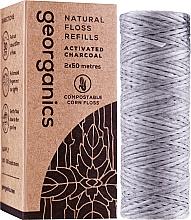 Profumi e cosmetici Filo interdentale, 2x50 m - Georganics Natural Charcoal Dental Floss (unità sostituibile)