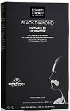 Profumi e cosmetici Patch contorno labbra - MartiDerm Black Diamond Ionto-Filler Lip Contour
