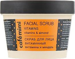 """Profumi e cosmetici Scrub per viso """"Vitamina"""" - Cafe Mimi Facial Scrub Vitamins"""