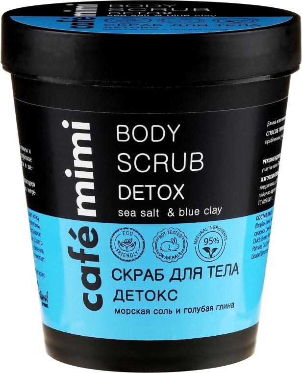 """Scrub corpo """"Detox, sale marino e argilla blu"""" - Cafe Mimi Body Scrub Detox"""