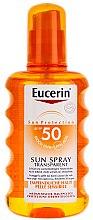 Profumi e cosmetici Spray protezione solare corpo - Eucerin Sun Spray Transparent SPF 50