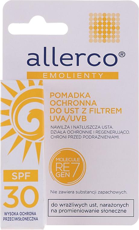 Rossetto protettivo con filtri UVA / UVB - Allerco Emolienty Molecule Regen7 Lip Balm SPF30 — foto N1