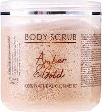 """Profumi e cosmetici Scrub corpo """"Ambra e oro"""" - Sezmar Collection Professional Body Scrub Amber & Gold"""
