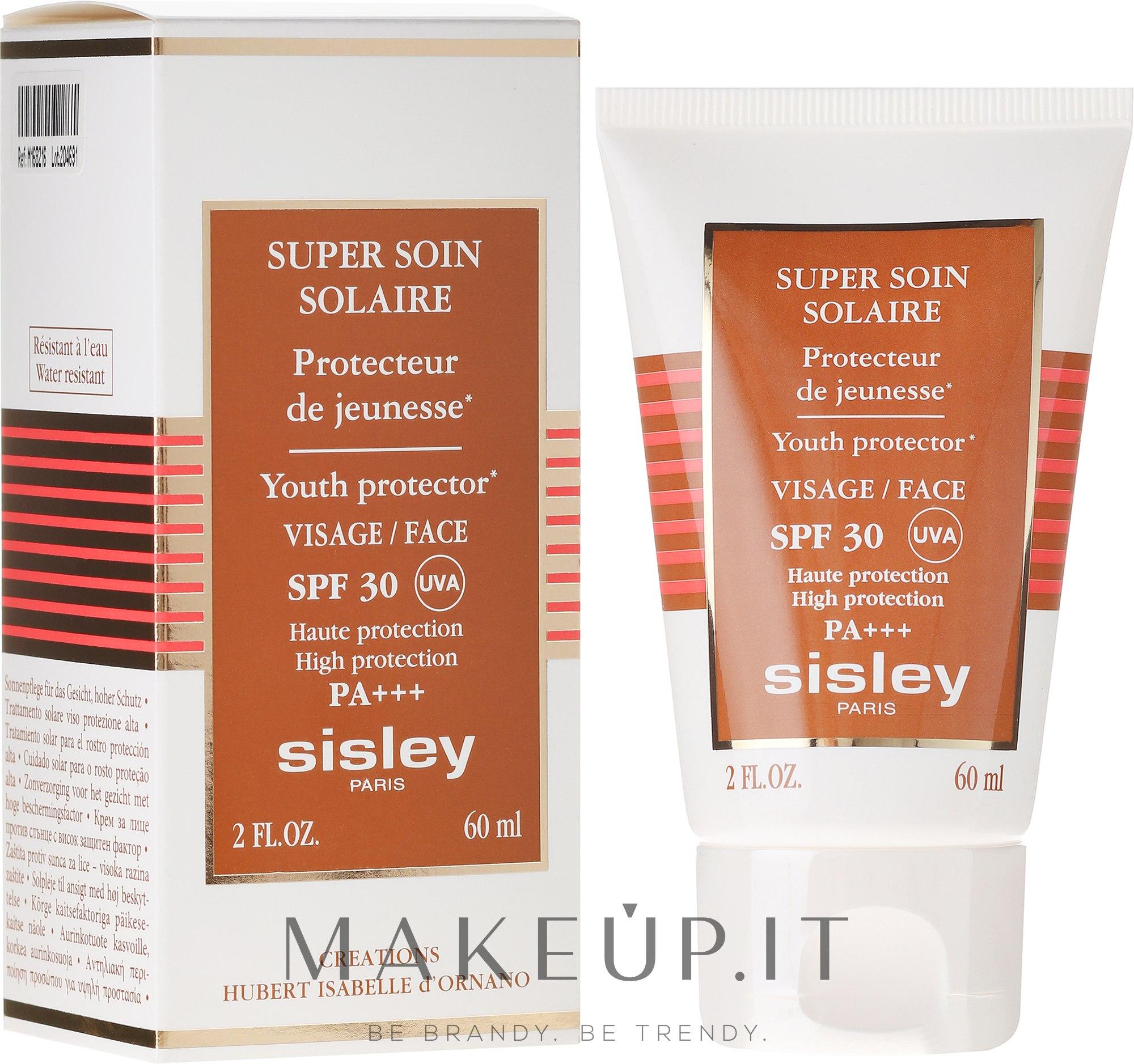 Crema solare viso SPF 30 - Sisley Super Soin Solaire Facial Sun Care SPF 30 — foto 60 ml