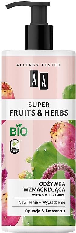 """Balsamo rinforzante per capelli """"Opuntia e Amaranto"""" - AA Super Fruits Herbs Conditioner"""