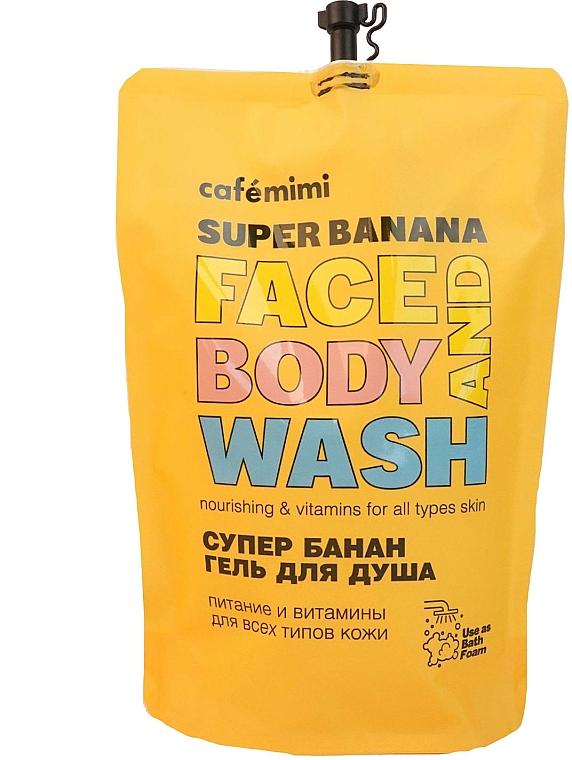 "Gel doccia ""Super Banana"" - Cafe Mimi Super Banan Face And Body Wash (doypack)"