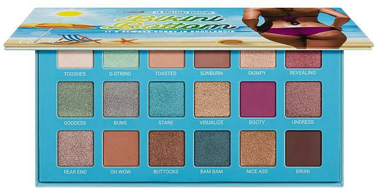 Palette ombretti - Rude Bikini Bottom Eyeshadow Palette — foto N2