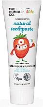 Profumi e cosmetici Dentifricio naturale alla fragola per bambini - The Humble Co. Natural Toothpaste Kids Strawberry Flavor