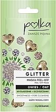 Profumi e cosmetici Maschera detergente levigante all'avena - Polka Glitter Peel Off Mask Oat