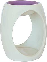 Profumi e cosmetici Lampada aromatica in ceramica, bianca con parte superiore viola - Airpure