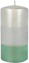 """Profumi e cosmetici Candela decorativa """"Satin"""", 7x14cm, menta - Artman Atlas Candle Mint"""
