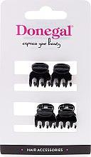 Profumi e cosmetici Pinza per capelli FA-9930, mini, colore nero, 4 pz. - Donegal Hair Clip