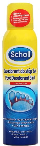 Deodorante antitraspirante per i piedi - Scholl 3in1 Antiperspirant
