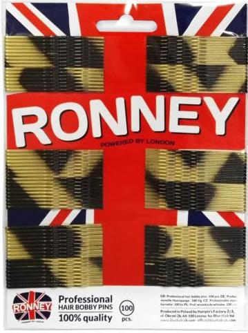 Forcine capelli, nero-oro, 60 mm, 100 pz. - Ronney Golden-Black Hair Bobby Pins