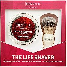 Profumi e cosmetici Set - Men Rock The Life Shaver Black Pomegranate Kit (brush/1pcs + sh/cr/100ml)