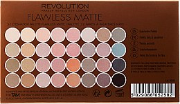 Palette ombretti, 32 tonalità - Makeup Revolution Ultra 32 Shade Palette Flawless Matte — foto N3