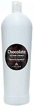 """Profumi e cosmetici Shampoo per capelli secchi e danneggiati """"Cioccolato"""" - Kallos Cosmetics Chocolate Full Repair Shampoo"""