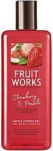 """Profumi e cosmetici Gel doccia """"Fragola e Pomelo"""" - Grace Cole Fruit Works Hand Wash Strawberry & Pomelo"""