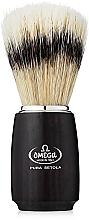 Profumi e cosmetici Pennello da barba, 11712, nero - Omega