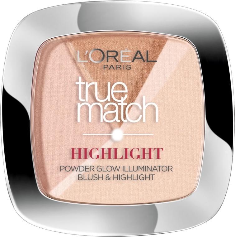 Cipria-highlighter per viso - L'Oreal Paris True Match Highlight Powder