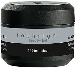 Profumi e cosmetici Gel per stagnola per unghie - Peggy Sage Technigel Transfer Foil Gel (Clear)