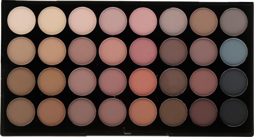 Palette ombretti, 32 tonalità - Makeup Revolution Ultra 32 Shade Palette Flawless Matte — foto N1