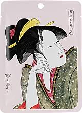 Profumi e cosmetici Maschera in tessuto alla camelia e matcha - Mitomo Camellia Flower Oil & Matcha Essence Mask
