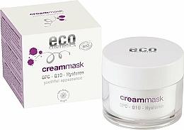 Profumi e cosmetici Crema-maschera viso con acido ialuronico - Eco Cosmetics Cream Mask With OPC Q10 & Hyaluron