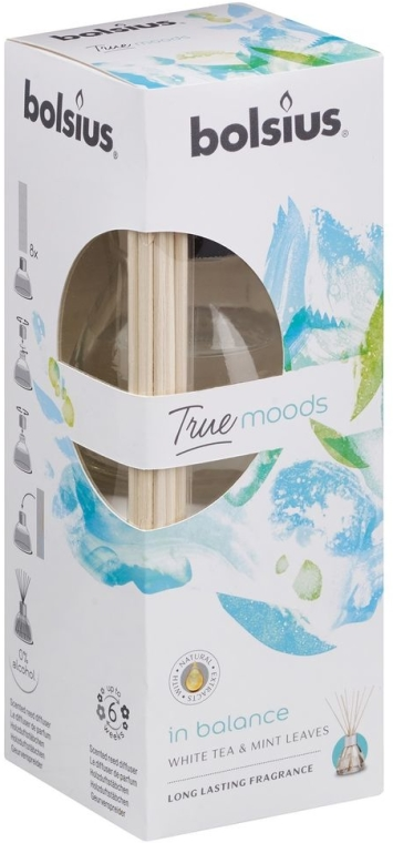 "Diffusore di aromi ""Tè bianco e foglie di menta"" - Bolsius Fragrance Diffuser True Moods In Balance"