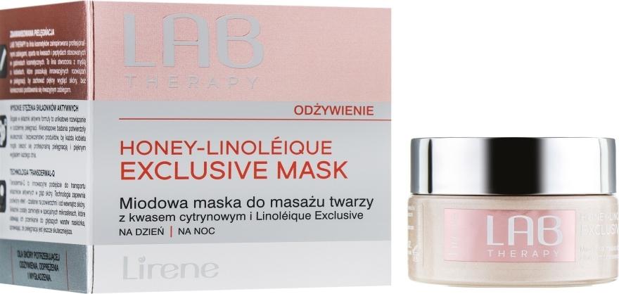 Maschera viso per massaggio con miele - Lirene Lab Therapy Nourishment Linoleique Exclusive Mask — foto N1