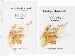 """Profumi e cosmetici Maschera in tessuto """"Polonia"""" - Calluna Medica Poland Nourishing And Moisturizing Biocellulose Facial Mask"""