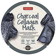 Profumi e cosmetici Maschera viso al collagene - Purederm Charcoal Collagen Mask