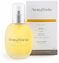 Profumi e cosmetici Olio da bagno - AromaWorks Serenity Bath Oil