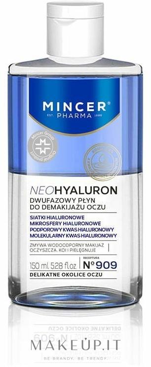 Struccante bifasico per occhi - Mincer Pharma Neo Hyaluron 909 — foto 150 ml