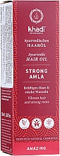 Profumi e cosmetici Olio rinforzante per capelli - Khadi Ayuverdic Strong Amla Hair Oil