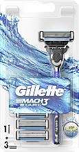Profumi e cosmetici Rasoio con 3 cassette intercambiabili - Gillette Mach 3 Turbo Start