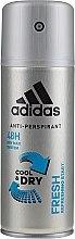 Profumi e cosmetici Deodorante - Adidas Anti-Perspirant Fresh Cool & Dry 48H