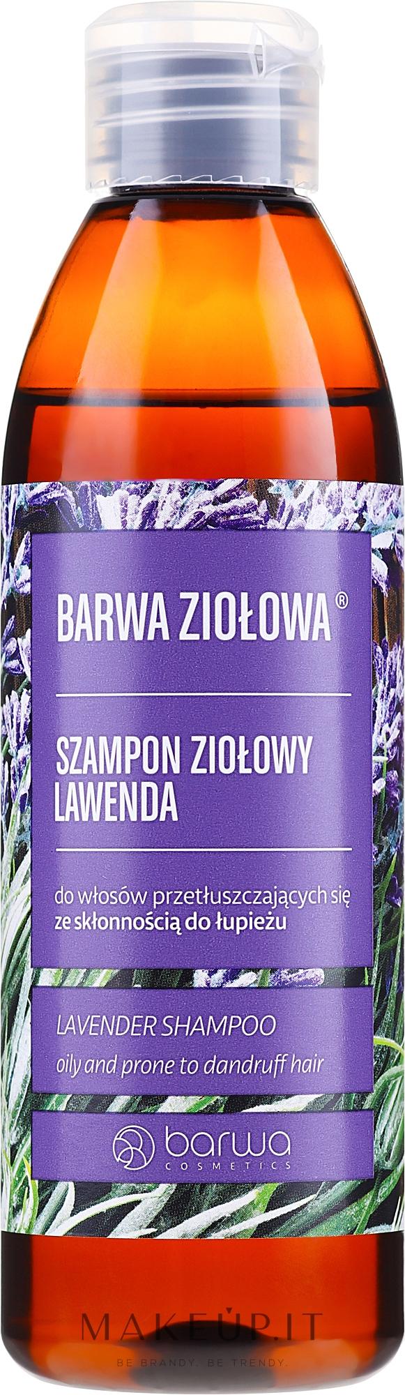 Shampoo per capelli grassi e soggetti a forfora - Barwa Herbal Lavender Shampoo — foto 250 ml