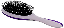 Profumi e cosmetici Spazzola massaggiante per capelli, grigia-viola - Twish Professional Hair Brush With Magnetic Mirror Grey-Indigo