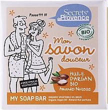 Profumi e cosmetici Sapone - Secrets De Provence My Soap Bar Organic Argan Oil Almond-Hazelnut