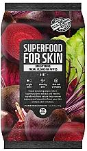 "Profumi e cosmetici Salviette detergenti viso ""Buriak"" - Superfood For Skin Brightening Facial Cleansing Wipes Beet"