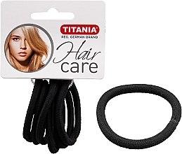 Profumi e cosmetici Elastici capelli, 6 pz, nero, 6 mm - Titania