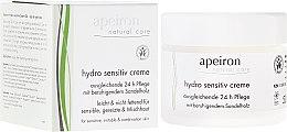 Profumi e cosmetici Crema idratante per pelli sensibili - Apeiron Hydro Sensitiv Cream 24h