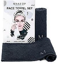 "Profumi e cosmetici Set asciugamani da viaggio, nero ""MakeTravel"" - Makeup Face Towel Set"