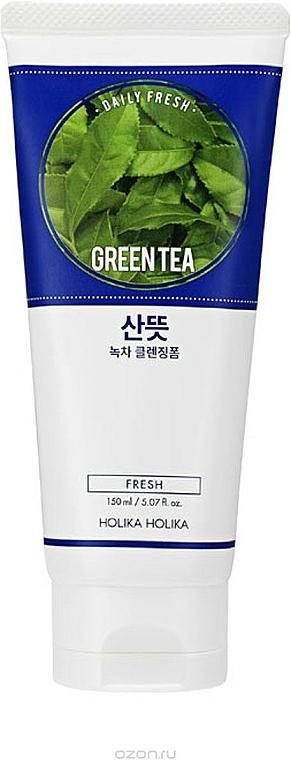Schiuma detergente con estratto di tè verde - Holika Holika Daily Fresh Green Tea Cleansing Foam