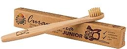 Profumi e cosmetici Spazzolino da denti in bambù per bambini, morbido - Curanatura Bamboo Junior